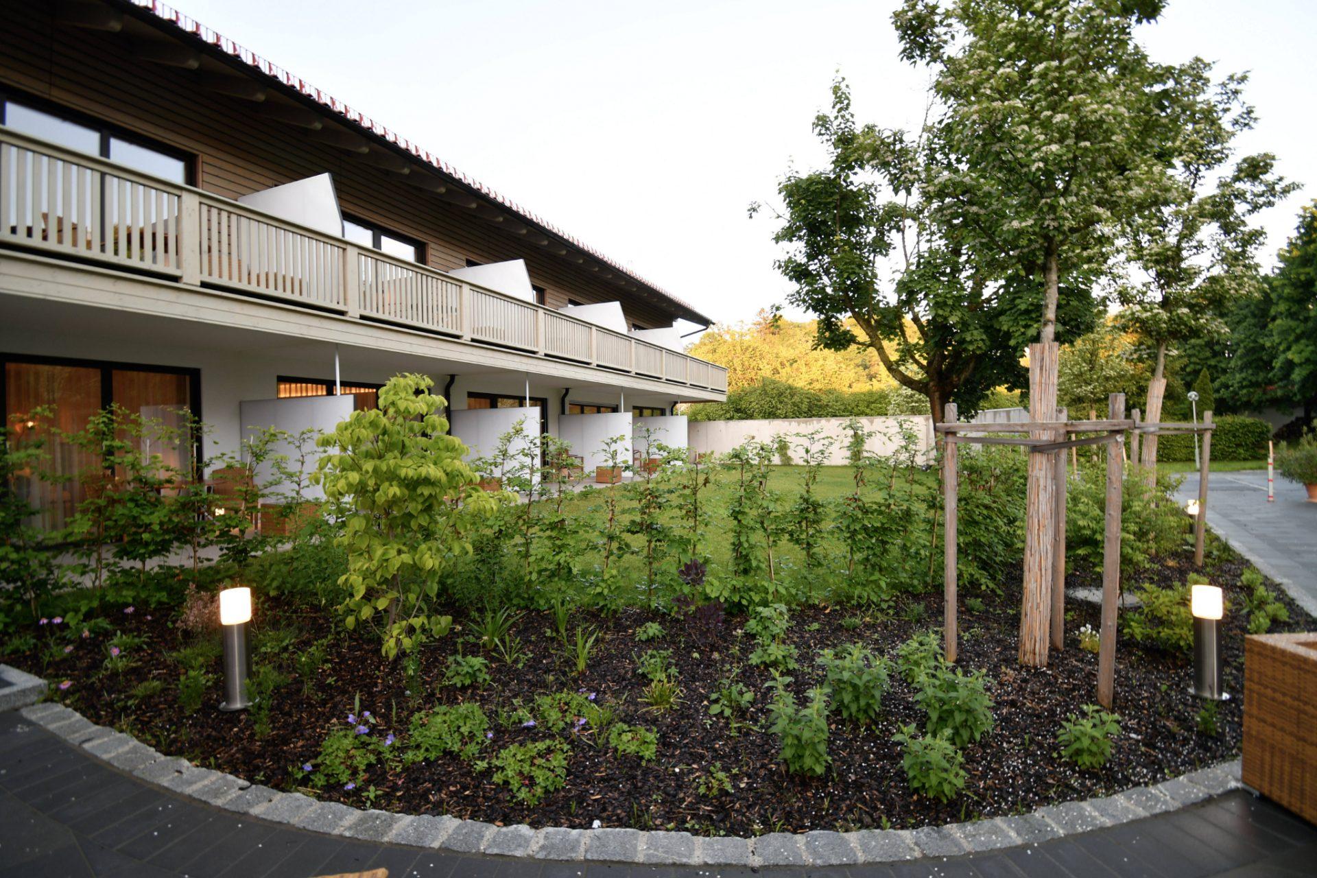 Der Kräutergarten.