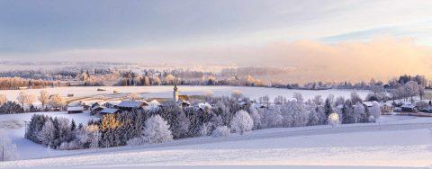 Waging am See im Winter